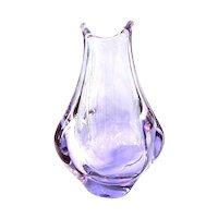 Zelezny Brod , ZBS. Designed by Miroslav Klinger Organic Form Glass Vase pink blue changing