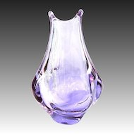 Zelezny Brod , ZBS. Designed by Miroslav Klinger Organic Form Glass Vase pink blue changing