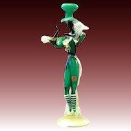 Barovier & Toso female dancer Murano glass figure gold powder