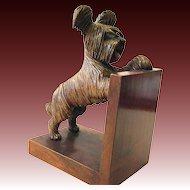 One single Art Deco bookend Bakelite West Highland White Terrier wood dog