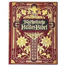 Original Art Nouveau German Catholic Picture Bible W. Herlet Berlin 1909