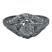.68ct. Diamond & Platinum Art Deco Engagement Ring - J34184