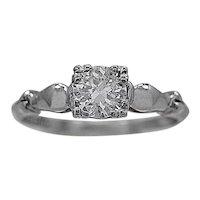 .58ct. Diamond Art Deco Platinum Engagement Ring - J35363