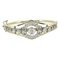 Art Deco 3.75ct. T.W. Diamond Antique Bracelet Platinum and Yellow Gold
