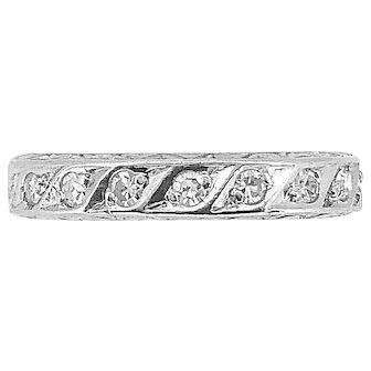 .35ct. T.W. Diamond Antique Eternity Band Platinum