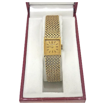 Ladies Jauvenia Vintage Wrist Watch 18K Yellow Gold - J37159