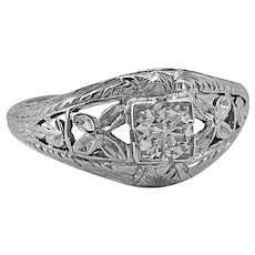 Marsh Amp Co Steel And Diamond Ring With Large Cultured