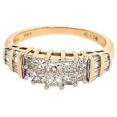1.50ct. T.W. Diamond Vintage Engagement - Fashion Ring Yellow & White Gold - J37595