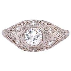 Art Deco .40ct. Diamond Antique Engagement - Fashion Ring Platinum - J37797