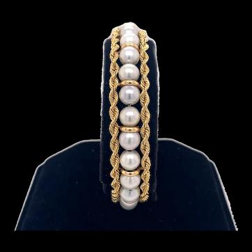 Akoya Antique Pearl Bracelet Yellow Gold - J37813
