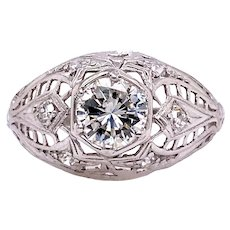 Art Deco .70ct. Diamond Antique Engagement - Fashion Ring Platinum - J37828