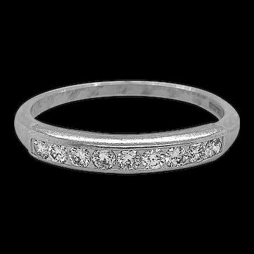 .33ct. T.W. Diamond & Platinum Vintage Anniversary - Wedding Band - J37834