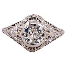 Art Deco .60ct. Diamond Antique Engagement - Fashion Ring Platinum - J37939