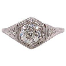 Art Deco .70ct. Diamond Antique Engagement - Fashion Ring Platinum - J39060