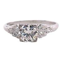 Art Deco .50ct. Diamond Antique Engagement - Fashion Ring Platinum Peacock - J39212