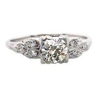 Art Deco .50ct. Diamond Antique Engagement - Fashion Ring Platinum - J39271