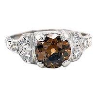 Art Deco 1.05ct. Diamond Antique Engagement - Fashion Ring GIA Platinum - J39308