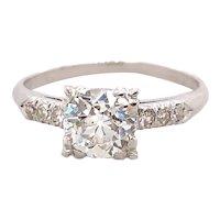 Art Deco 1.00ct. Diamond & Platinum Antique Engagement Ring - J39111