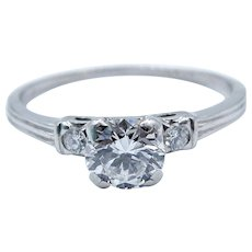 Platinum 900 Engagement Diamond Ring - Diamond Color I, Clarity VS1