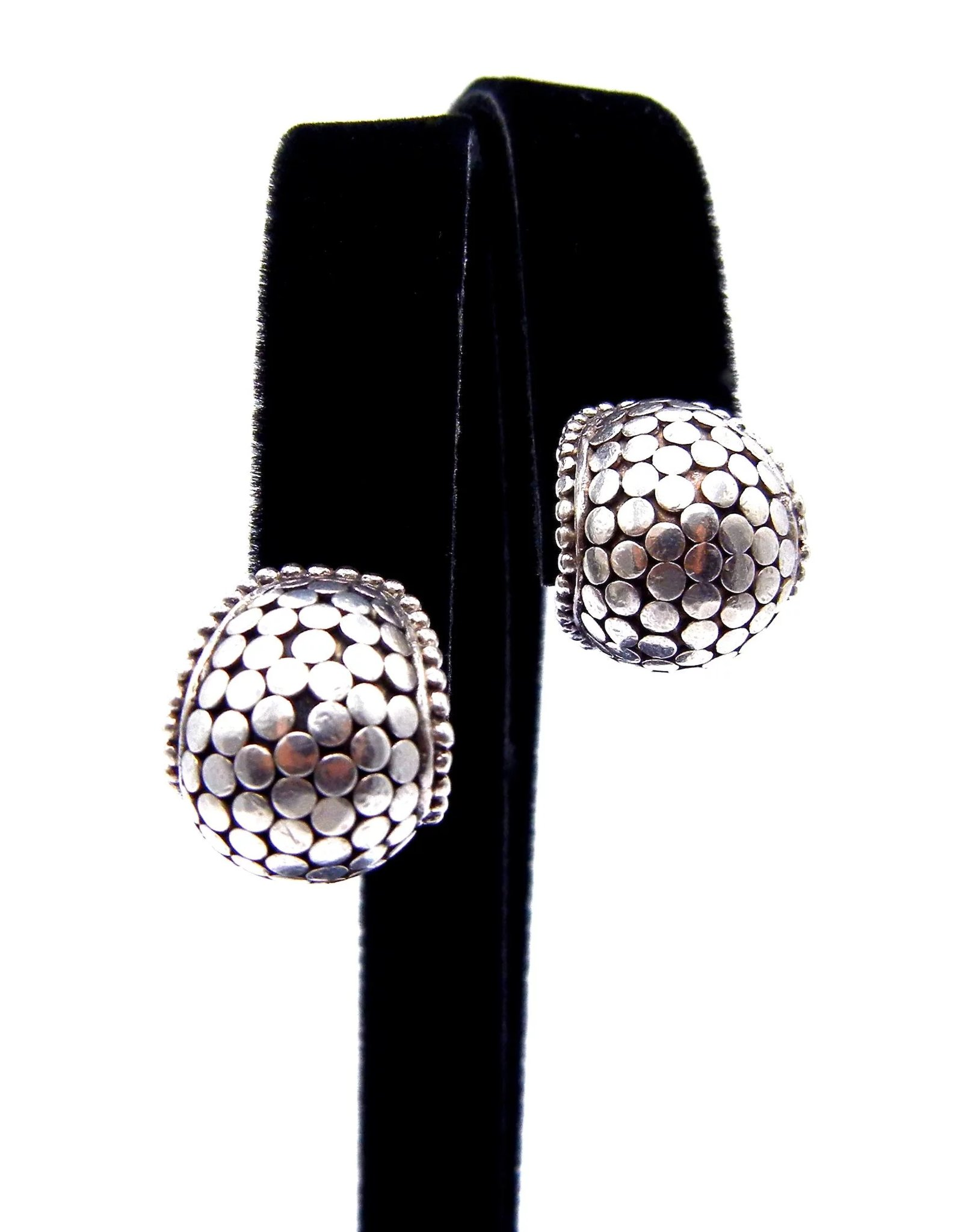 John Hardy Dot Buddha Belly Earrings In Sterling Silver Clip On Click To Expand