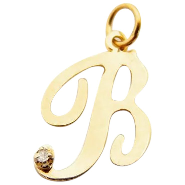 com script b dp necklace diamond quot white pendant amazon gold initial letter