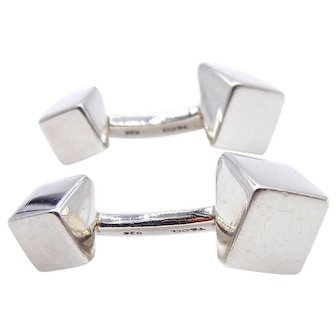 Tiffany and Co. Geometric Cufflinks in Sterling Silver