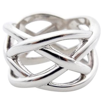 Tiffany and Co Knot Weave Band in Sterling Silver