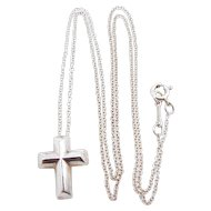 0575644b9 Tiffany & Co. Sterling Silver Paloma Picasso Tenderness Cross Necklace with  Original Pouch