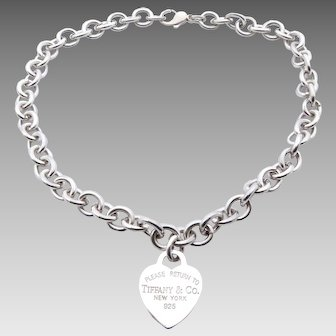 Tiffany & Co Heart Tag Please Return to Tiffany Necklace in Sterling Silver