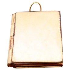 Gold Filled Book Shape Locket Pendant