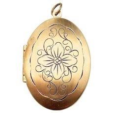 Gold Filled Large Oval Shape Locket Pendant