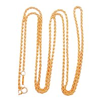 Tiffany & Co 18 Karat Yellow Gold Rope Chain - 30 Inches