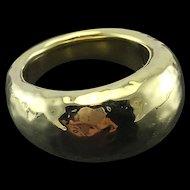 Ippolita 18K Yellow Gold Hammered Ring - Large Glamazon Dome