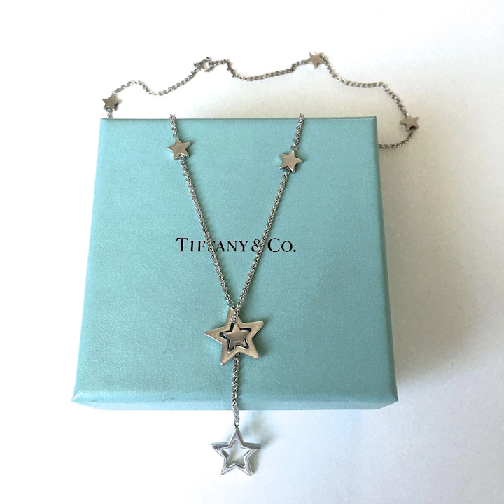 288b56e2578a5 Authentic Tiffany & Co Star Lariat Sterling Silver Necklace