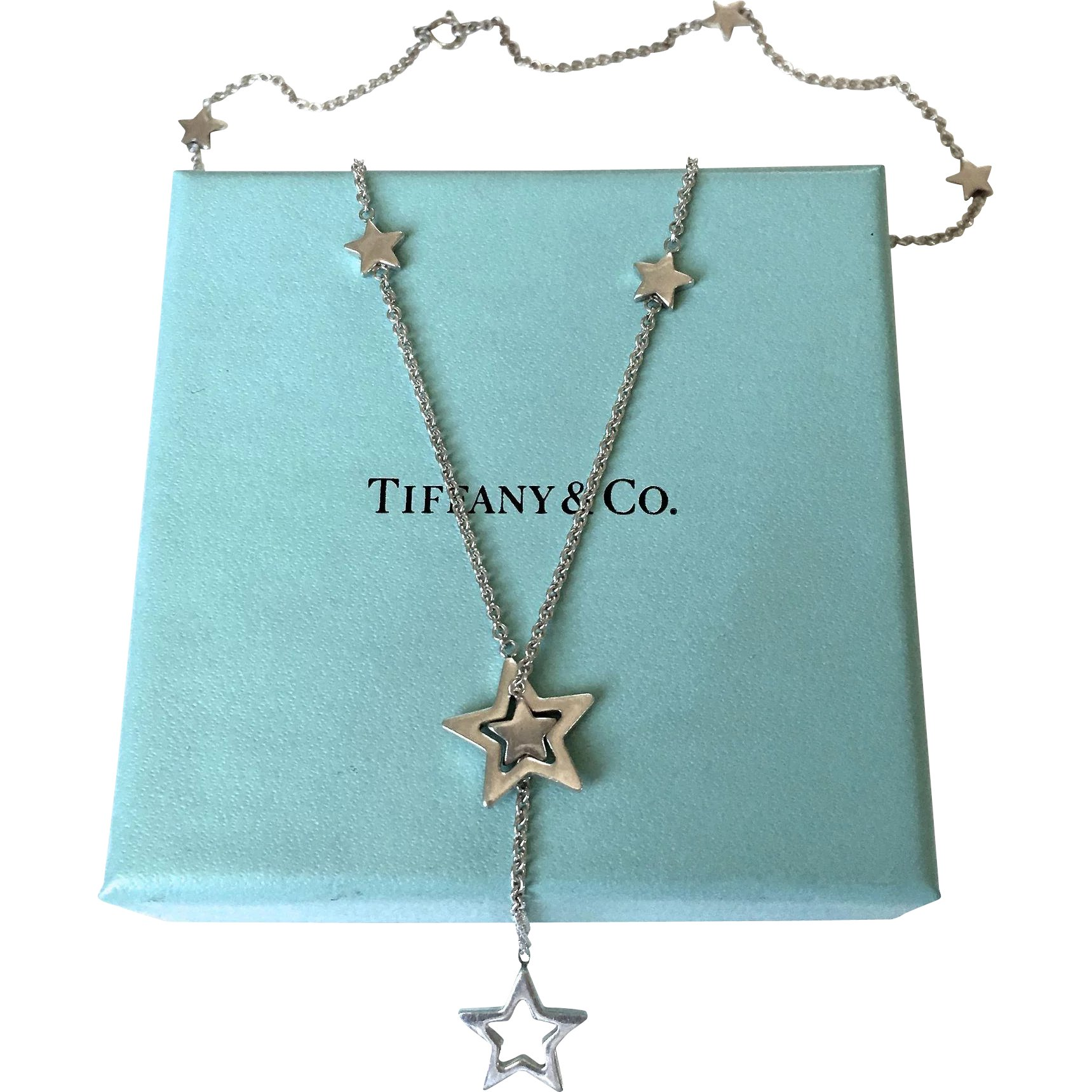 5dd261c75c20a Authentic Tiffany & Co Star Lariat Sterling Silver Necklace : Watch ...