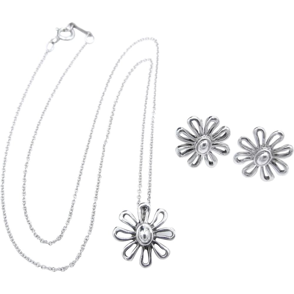 c6152f029 Tiffany & Co Daisy Paloma Picasso Sterling Silver Set - Pendant : Watch and  Wares | Ruby Lane