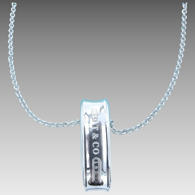 a9c9089eb Reserved Tiffany Co 1837 Sterling Silver Loop Ring Pendant And. Silver  Warehouse Tiffany Dotsu Cross Necklace Wg Diamond 5 2g A Rank Beautiful  Goods