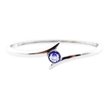 Tanzanite Bangle Bracelet in Sterling Silver