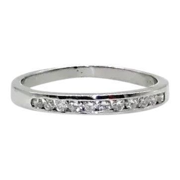Platinum and Diamonds Band - Size 6.25