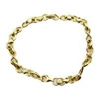 "14 Karat Yellow Gold Diamond Bracelet - 7"" long or 18.5 cm"