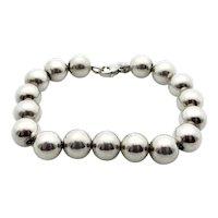Tiffany & Co Sterling Silver Ball Bracelet - 10 mm Ball Beads