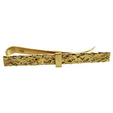 Tiffany & Co 18 Karat Yellow Gold Tie Bar Money Clip