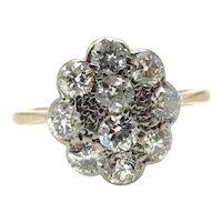 Antique 18 Karat Yellow Gold Diamond Ring - Size 4.5