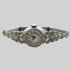 14 Karat White Gold Waltham Ladies Wristwatch