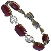 RARE 14k Natural Red Oxblood Coral Bracelet