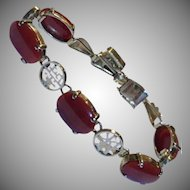 18 Carats RARE 14k Natural Red Oxblood Coral Bracelet