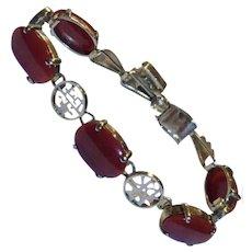 18 Carats RARE 14k Natural Red Oxblood Coral Bracelet