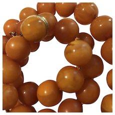 Captivating Natural Baltic Amber Necklace 14k