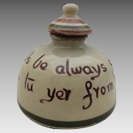 Torquay Ware Pottery Inkwell 1920'S or 1930'S