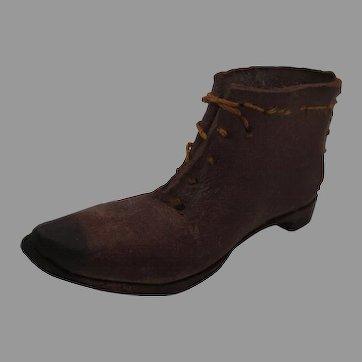 Miniature Handmade Leather Shoe